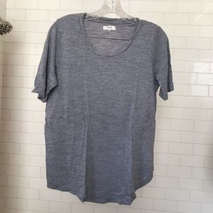 Madewell curved hem gray T-shirt